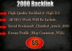Give 2000 Quality Backlink Just