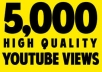 Provide you 5000+ Extra 1000 Youtube views Within 1-2 hours