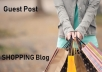 Guest Post on Quality Shopping Blog