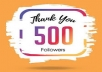 Give you Permanent 500+ Instagram followers within 2-3 hours
