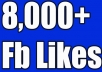 EXPECTED DELIVERY 2 DAYS World Wide Mix Fan page Likes and NON Drop Likes  ★★★100% CUSTOMER SATISFACTION★★★  Are you searching real facebook likes to your Fan Page OR posts? I will provide 8,000+ Real Human Facebook likes    These Facebook likes are totally PERMANENT and stable   Split available!