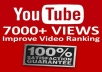 Add you real high quality 7,000+ YouTube Views permanent