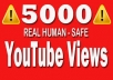 Give you 5000+ HQ Youtube Video views within 1-2 h