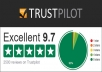Leave 2 trustpilot review from verified account
