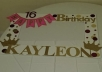 I do crafts, birthday sashes, photo booth frames, simple home decor for your entry way.