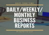 create business reports for you