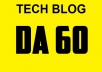 do guest post in DA 60 Tech blog