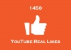 give you 1100 YouTube Likes cheap and fast