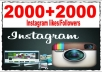 give 2,000+ Instagram followers and 2000 Free LIKES Permanent