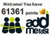 Add 4000 Addmefast Points to your Addmefast Account