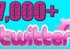 Provide 7000+ Twitter Followers    Username Only     Refill (30 Days Maximum)     Mixed Quality