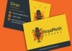 Create a business card for company or business.