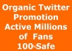 I will share Any message or website link to my 500000+ active Twitter followers !! My twitter accounts is growing Daily and all my followers are REAL.