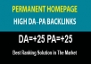 give 5 PBN Permanent Backlinks DA-PA=25-70