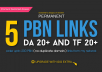 Create Permanent 5 PBN Links - DA 20+ and TF 20+
