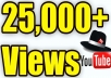 Get 25,000 High Quality and High Retention Fast Youtube views      - We send any kinds of YouTube Views  - No bots  - Fast delivery  - Money Back Guaranteed  - World Wide different ip views  - High Quality views