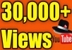 Hey, We will send 30,000 Youtube Views. Our Views Never Delete Or Drop Any Videos ( Money back guarantee )  High Quality Views Come Facebook , Twitter Etc.. NEVER get your video banned from YouTube 100 % Safe Views Long Watch Time NO Bot No Proxy 100% real and permanent Active Youtube Views  Non-Drop Views