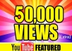 special offer!!!!!!  In this gig I'll provide you Real YouTube views. A Service To Improve The Popularity Of Your YouTube Videos and Increase Your Site/Blog Visitors....Videos with more Views often show up in Google search results. Also this helps you get found more often on YouTube Top Search Results.  Order now and get huge views on your video!!!