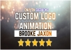 make creative custom logo animation