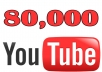 Provide 80,000+ Youtube Views