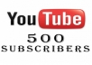 We will Add for You More 500 YouTube Real Subscribers 100% Safe and Fast 