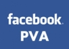 sell Facebook fresh 6 PVA accounts