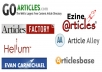 Do Manually Submit Your Articles To Top 20 Directories