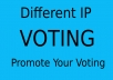 Provide 100 Different IP votes your online contest