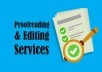 proofread, enhance and edit up to 5000 word document