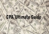 show you complete guide how to earn 1000 dollars per month from CPA on autopilot