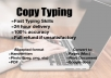 do copy typing, 6 pages from handwritten essays, pdfs or photos