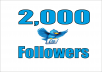 add 2,000+ High Quality Twitter followers