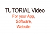 Create a tutorial video