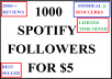 give 1000 spotify followers