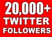 give you 20,000 twitter followers 100% Real & Non-Drop