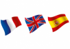 translate your documents to French or Spanish (500 words)