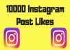 Provide 10000 Instagram Post Likes
