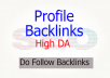 Do 200 Profile Backlinks