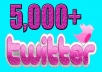 I Will Add PERMANENT 5000+ twitter followers less than 48 hours.  Features: ✔ No Password Access Required ✔ More Users Have Profile Pictures Uploaded ✔ Get Quality twitter Follower's for the Best Possible Results ✔ There is no risk for your account to get banned for that! You should not worry at all! ✔ 100% Safe