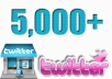 give you 5,000 twitter followers 100% Real & Non-Drop