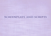 Write a screenplay for you