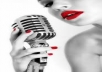 record a professional female voice over up to 80 words to your specifications