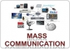 Help you with all Mass Communication Assignments