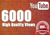 Give Non Drop 6000 To 7000 High Quality Youtube Views Fully Safe