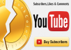 Give Full Pack 300+ YouTube Subscribers, 300+ video likes, 30+ comments - Non Drop and Fast Delivery