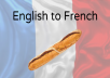 translate english into french