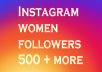 Add Real 500 female followers %100 safe on 2 days