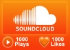 add soundcloud 1000 plays + 1000 likes