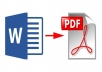 convert your word document to PDF and vice versa.
