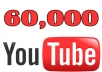 Get 60,000 High Quality and High Retention Fast Youtube views